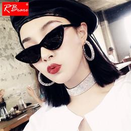 $enCountryForm.capitalKeyWord NZ - RBRARE Cat Eye Sunglasses Women Triangle Frame Fashion Ocean Film Sun Glasses Simple Solid Color Shopping Oculos Feminino