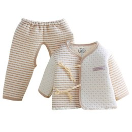 7744d9e582610 2019 Newborn Baby Colored Organic Pure Cotton Clothing Sets Baby Boys Girl  Clothes Soft Warm Pajamas Outfits for Spring Autumn
