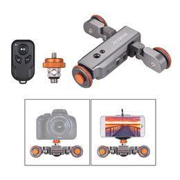 $enCountryForm.capitalKeyWord Australia - Andoer L4 PRO Motorized Camera Video Dolly Remote Control 3 Speed Adjustable Mini Slider Skater with Scale Electric Track Slider