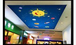 $enCountryForm.capitalKeyWord Australia - Wholesale-Interior Ceiling 3D Custom Photo Mural Wall paper Cartoon cute child romantic space background wallpaper ceiling mural