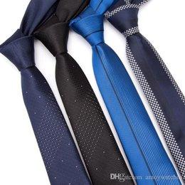 $enCountryForm.capitalKeyWord Australia - Men skinny ties 5cm Necktie luxury Mens Fashion Jacquard Neckties shirt Business man Wedding dress Slim Tie