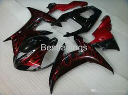 $enCountryForm.capitalKeyWord Australia - 100% Fitment. High quality Injection molding fairing kit for YAMAHA R1 2002 2003 black red flames fairings YZF R1 02 03 BC11