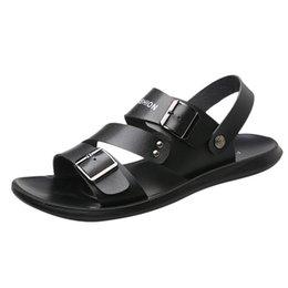 $enCountryForm.capitalKeyWord Australia - SAGACE sandals men mens sandals summer men shoes Casual Shoes Fashion Summer Beach Sandal Leather Flip Flops G0704#10