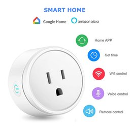 wifi smart socket Canada - Smart Plug WiFi Remote Control with Alexa Timing on off Power Smart Google Home Electric Mini Socket