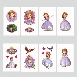 Free shipping temperary tattoo stickers promotion gift princess stickers for kids mix designs on Sale