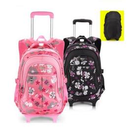 $enCountryForm.capitalKeyWord Australia - School Rolling Backpacks For Girls Wheeled Backpack Trolley School Backpacks Children Luggage Bag Wheels Kids Trolley Rucksack