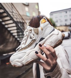 platform walking casual shoes NZ - Stylish Beidge Women Casual Shoes Lovers Platform Chunky Sneakers Harajuku Flat Thick Sole Tenis Wedge White Basket Walking