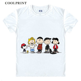 anime tee shirts Canada - PEANUTS Anime T Shirt Woodstock Little Yellow Birds Charlie Brown Anime Cosplay Custom Shirt Tank Top Vintage Printed Tee-Style562-NO17