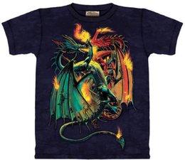 $enCountryForm.capitalKeyWord Australia - Fight Fire With Fire Dragon Fantasy Hand Dyed T-Shirt Large Men Women Unisex Fashion tshirt Free Shipping black
