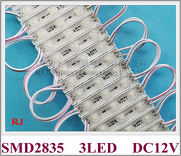 pcb module Canada - LED light module DC12V SMD 2835 3 led 0.9W 100lm 58mmX10mmX6mm IP65 aluminum PCB super quality 3 year warranty with lens