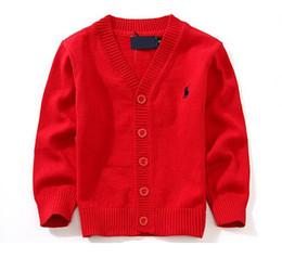 Cotton Cardigans For Girls Australia - Children Sweaters New 2019 Spring Boys Girls Child 100% Cotton knit cardigans For 1-6 Ages Kids Baby Cardigan Sweaters 7 Color