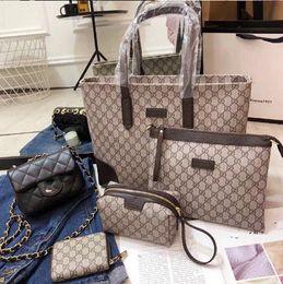 $enCountryForm.capitalKeyWord Australia - Designer Handbags Brand Bag Paris Real Leather Luxury Handbags Shopping Bag Shoulder Bag Fashion Clutch Bags Wallet Purse 1 Piece=3 bags Q16