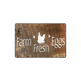 Coffee Housing UK - classic vintage Farm FRESH EGGS MAN CAVE RULES THE HEN HOUSE tin sign Coffee Shop Bar decoration Bar Metal Paintings