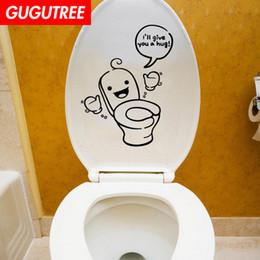 $enCountryForm.capitalKeyWord Australia - Decorate Home toilet cartoon art wall sticker decoration Decals mural painting Removable Decor Wallpaper G-1889