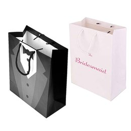$enCountryForm.capitalKeyWord Australia - Bridesmaid Groomsmen Gift Bags for Wedding Bridal shower Bachelorette hen Party Team Bride tribe Groom decoration favor supplies