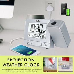 $enCountryForm.capitalKeyWord NZ - 3 Inch LCD Alarm Clocks Projection Alarm Clock Smart Clock Temperature and Time Projection USB Charger