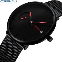 Luxury Sport Casual Watches Australia - Crrju Sports Date Mens Watches Top Brand Luxury Waterproof Sport Watch Men Ultra Thin Dial Quartz Watch Casual Relogio Masculino Y19061905