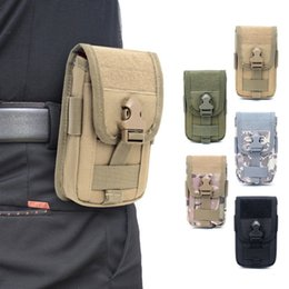Wholesale Molle Phone Holster Outdoor Waist Bag Utility Vest Card Carrier Bags Mini Multi function Hook Loop Travel