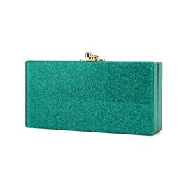 00f3db3dd33 Designer Small Shoulder Bags Casual Evening Party Acrylic Clutch Women's  Handbag Female Envelope Crossbod Green Glitter Wallet