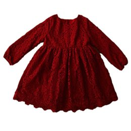 $enCountryForm.capitalKeyWord Australia - Lace Girl Dress Kids Velvet Winter Girls Clothes Baby Girl Princess Dress Mom And Daughter Dress For Party Wedding Thicken Kids