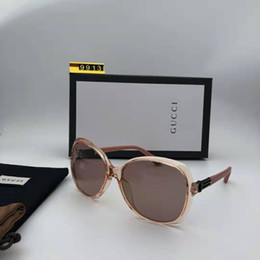 Frames Bronze Australia - Luxury 0113 Designer Sunglasses For Women Fashion Round Summer Style Black Gold Frame eyewear Top Quality UV Protection Lens Come With Case
