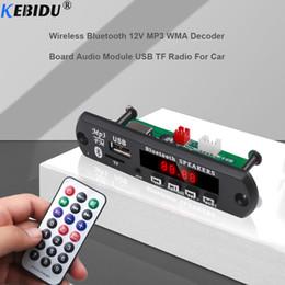 Free Audio Recording Australia - KBBIDU 5-12V Bluetooth MP3 Player Decoder Board FM Radio TF USB 3.5mm Hand-free Call Recording WMA AUX Audio Receiver Car Kit