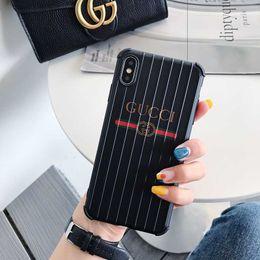$enCountryForm.capitalKeyWord Australia - Designer Phone Case for Iphone 6 6s 6p 6sp 7 8 7p 8p X XS XR XSMax Fashion Popular Luxury Stripe Brand Back Cover Hot Sale Wholesale