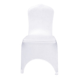wholesale wedding chair cover spandex NZ - Extra thicker White Spandex Wedding Chair Covers For banquet Events Party Hotel Decoration Stretch Lycra Seat Covers