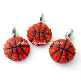 Wholesale Hot Sports Ball Charm Crystal DIY Basketball Charms Pendants for Jewelry Making Accessories Handmade Craft mm