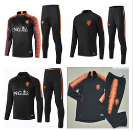 Chinese  Holland football training clothes Holland quality 2019 cowboy jacket Germany football player Sneijder Robben 19 20 Van Persie sportswear siz manufacturers