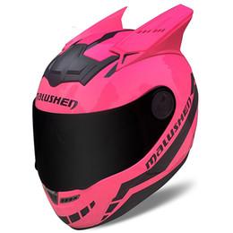 MALUSHEN motorcycle helmet full face pink color on Sale