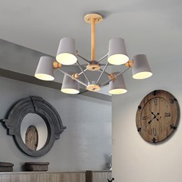 $enCountryForm.capitalKeyWord NZ - Nordic New Design Pendant Lights Wooden Hanging Light For Dining Table Colorful Bar Lamp Indoor LED Lighting Fixtures