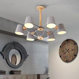 $enCountryForm.capitalKeyWord Australia - Nordic New Design Pendant Lights Wooden Hanging Light For Dining Table Colorful Bar Lamp Indoor LED Lighting Fixtures