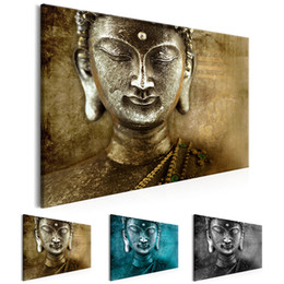 $enCountryForm.capitalKeyWord Australia - Unframed 1 Panel Large HD Printed Canvas Print Painting Buddha Home Decoration Wall Pictures for Living Room Wall Art on Canvas(Multicolor)