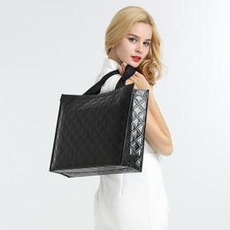 $enCountryForm.capitalKeyWord Australia - Pink sugao shopping bags high quality Boutique laser gift handbag high three layers thickened non-woven gift bag lattice ziwen storage