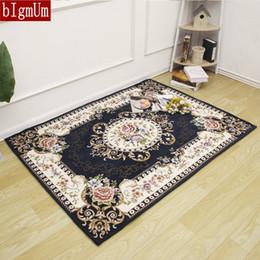 AreA rug styles online shopping - European Rectangle Jacquard Carpet for Living Room Anti slip Mats Luxury Doormat Kitchen Bedroom Floor Rug Hallway Area Rug