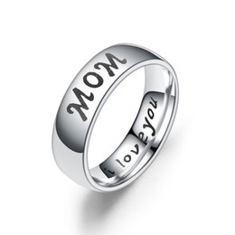 $enCountryForm.capitalKeyWord Australia - Hot Sale I Love You Mom Daughter Son Dad Family Member Gift for Mother Days Stainless Steel Women Rings
