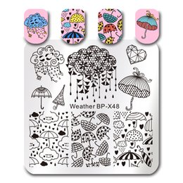 $enCountryForm.capitalKeyWord Australia - ail Art Tools Templates BORN PRETTY Umbrella Nail Stamping Plates Mystery Mask Feather Rain Cloud Hand Drawing Cute Cartoon Animal Image...