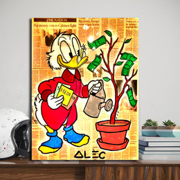 Plants Tree Painting Australia - Richie Money Tree Planting Alec Monopolyingly Canvas Prints Picture Modular Paintings for Living Room Poster on The Wall Home Decoration