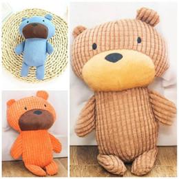 $enCountryForm.capitalKeyWord Australia - Plush Dog Toy Small Bear Doll Vocal Molars Bite Kid Baby Toys Pet Supplies Blue Orange 8 5yc C1