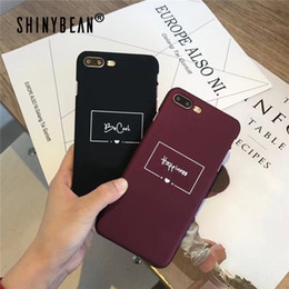 love iphone NZ - Phone Cases For iPhone X Cute Letter Heart Couple Cover For iphone 6 6S 7 8 Plus Hard Love Matte Wine Red Case
