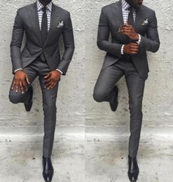 Men Slim Fit Suits Sale Australia - Pop Sale Men Pants Suit Slim Fit Jacket Best Man Business Party Classic Tuxedos 2 Pieces Prom Costume Homme Jacket+Pants