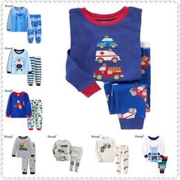 $enCountryForm.capitalKeyWord Australia - Ambulance Baby Boys' Pajama Set Cotton Children Sleepwear Clothes Suit Long Tee Shirts Trousers Boy Pj's Infant Pyjamas 1-7Year