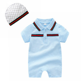 $enCountryForm.capitalKeyWord Australia - Wild baby Rompers summer thin short-sleeved cotton lapel newborn clothes 0-3 months foot full moon suit