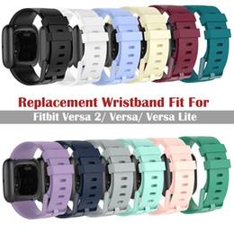 venda por atacado Wearable Smart Devices Acessórios pulseira colorida 2 Banda Silicone Pulseira Para Fitbit / Versa 2 Substituição banda para Fitbit Versa
