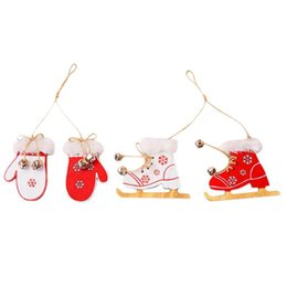 windows boots Australia - Christmas Gloves Boots Pendant Shop Window Xmas Tree Hanging Ornament Decor