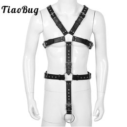 $enCountryForm.capitalKeyWord Australia - TiaoBug Men Full Body Chest Harness Detachable Groin Straps with Metal Rings Hot Sexy Male Gay BDSM Bondage Belt Erotic Costume