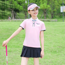 $enCountryForm.capitalKeyWord Australia - Golf Children Clothes Girls T Shirt Golf Apparel Youth Uniform Team Sports Suit Short Sleeve Tshirt Pleated Skirt Summer
