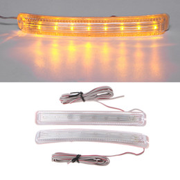 car signals mirror lights Australia - 2PCS Amber LED Car Light Source Yellow Soft 9 SMD FPC Turn Signal Light DC 12V Auto Rearview Mirror Indicator Lamp