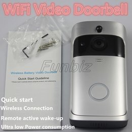 $enCountryForm.capitalKeyWord Australia - Home Video Wireless Remote Doorbell 720P HD Wifi Real-Time Video Two Way Audio Night Vision PIR Motion Doorbell For ISO & Android